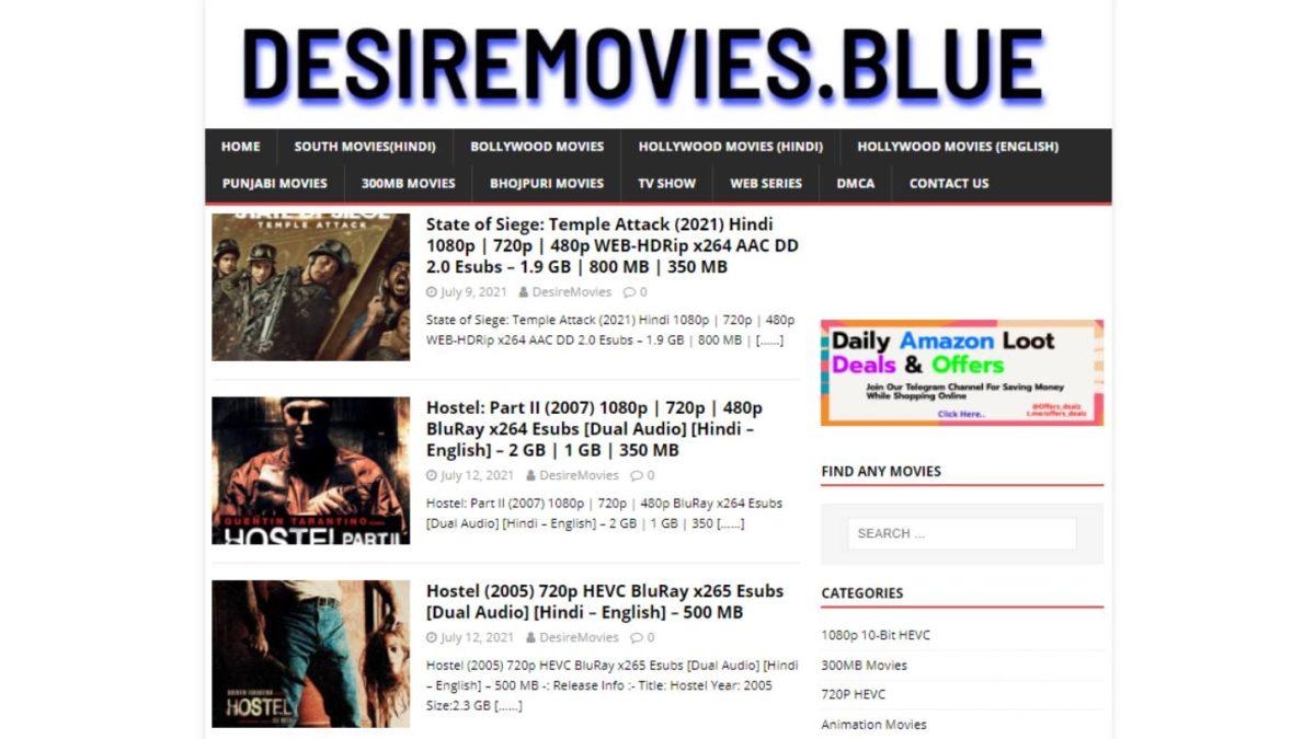 Desiremovies Website – Download Hindi, English Movies & TV Shows